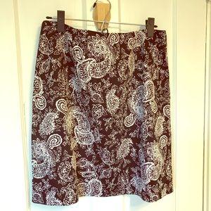"""Ralph Lauren B&W paisley skirt-size 12-20"""" length"""